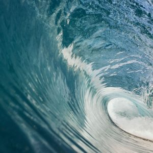 A close up image of a tunnel surf wave in Margaret River shows this is a world renowned surfing destination along The South West Edge
