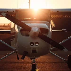A front-on image of a charter plane to show that you can take a scenic flight to explore further while doing the perth to esperance road trip itinerary The Edge