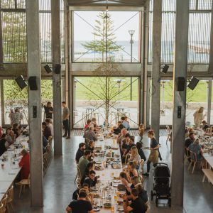 image of people dining in new venue Shelter Brewing Co to show spacious natural light setting